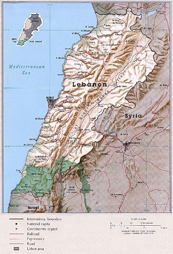 Liban carte