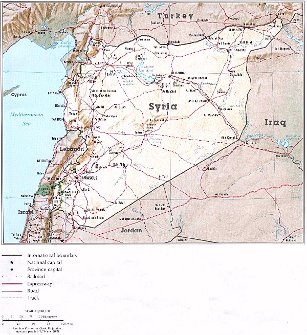 Syrie map